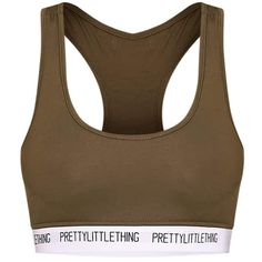 PrettyLittleThing Lemon Sports Bra ($16) ❤ liked on Polyvore featuring activewear and sports bras