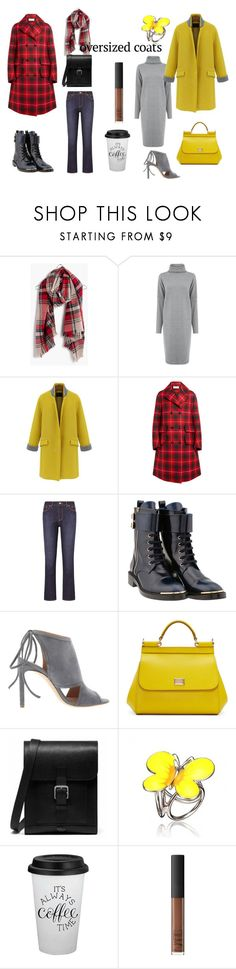 """""""oversize coats"""" by susibonvi ❤ liked on Polyvore featuring Madewell, Warehouse, WithChic, Gucci, Tory Burch, Louis Vuitton, BOSS Hugo Boss, Dolce&Gabbana, Mulberry and NARS Cosmetics"""
