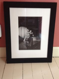 Private, unpublished photo of Keith Moon dancing. - framed in black velvet. Very cool (from a private collection).