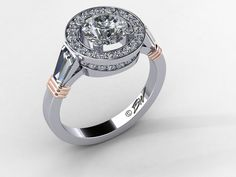 World's first double-decker halo engagement ring, copyright 2014 by Brian Walters, All Rights Reserved
