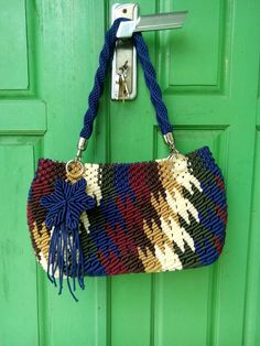 macrame bag motif army