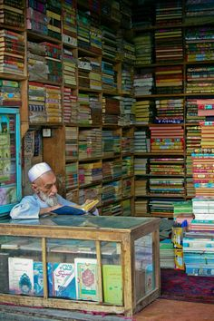Bookshop in Herat, Afghanistan. Herat is the third largest city of Afghanistan. It has a population of about and serves as the capital of Herat province, situated in the fertile valley of the Hari River. Religions Du Monde, Cultures Du Monde, World Cultures, People Around The World, Around The Worlds, Afrique Art, Book Aesthetic, Central Asia, Library Books