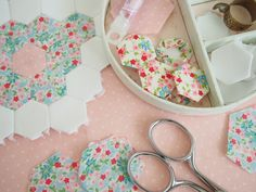Little Hexagons Tutorial - Pretty by Hand - Pretty By Hand - think my 11 yr old would like? How about my 6 year olds? They really want to learn how to sew...