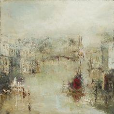 France Jodoin(Canadian, b.1961)  Le silence permet de contempler l'autre   2012  Huile sur toile de lin