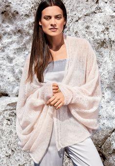 Lana Grossa FLEDERMAUSPULLI GLATT RECHTS Silkhair - FILATI Handstrick No. 64 - Modell 34 | FILATI.cc WebShop