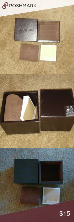 Michael Kors Watch Box Dark Brown leather Michael Kors Watch Box.  Pillow and booklet included. Michael Kors Accessories Watches