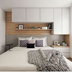 Design interior home apartments bookshelves ideas Small Master Bedroom, Bedroom Red, Master Bedroom Design, Small Bedroom Designs, Trendy Bedroom, Small Space Interior Design, Home Room Design, Apartment Interior, Interior Design Living Room