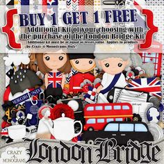 FREE kit of your choice when you purchase the London Bridge kit for 1.50! #digiscrap #olympics