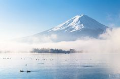 Fujisan in Autumn Mist