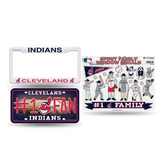 Cleveland Indians MLB 3 Piece Auto Family Pack