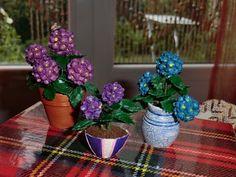 Miniaturas Yolanda: Tutorial, como hacer una hortensia.