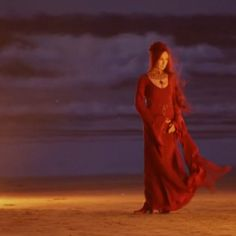 New to the Game of Thrones screen, Melisandre.