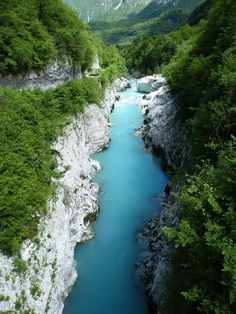 Soca River, Kobarid, Slovenia