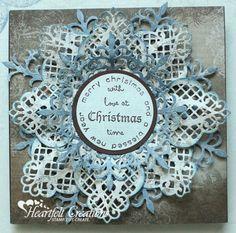 Heartfelt Creations | Country Blue Snowflake Card