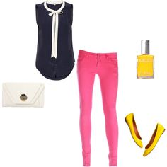 Yellow nails and pink pants? I'd do it...