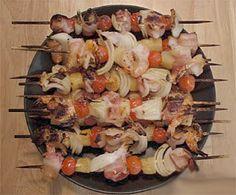Barbecued Hawaiian Kebabs Recipe
