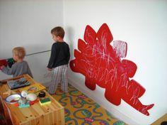 DIY How to make a Stegosaurus chalkboard