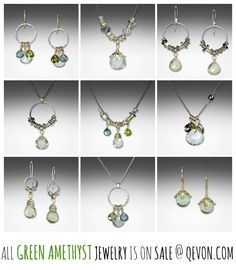 Green amethyst jewelry is now on sale at qevon.com
