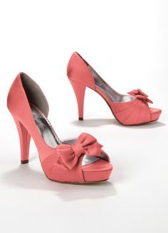 David's Bridal Satin Peep Toe Platform High Heel with Bow Style Maribelle, Coral Reef, 8 David's Bridal, http://www.amazon.com/dp/B007IGVUE4/ref=cm_sw_r_pi_dp_rHT0pb17VRM19
