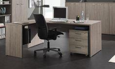 Le bureau d'angle contemporain Elano II vous offrira un espace de travail appréciable.