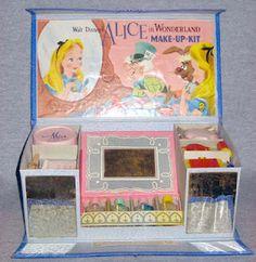 Vintage make-up kit from Walt Disney's Alice in Wonderland