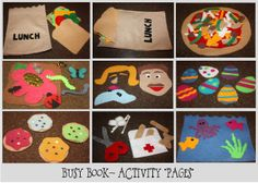 Busy Book Ideas that can be used as flannel board pieces - FREE Printable Templates