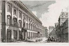 Piranesi, Giovanni Battista: Veduta del Palazzo Odescalchi (Palazzo Odescalchi Roomassa) (1753)