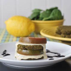 lemon basil spinach cakes
