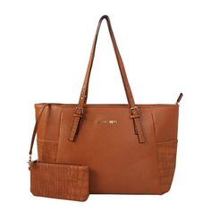 Cheap Michael Kors Jet Set Top-Zip Saffiano Leather Large Brown Totes Clearance