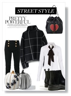 """""""Untitled #71"""" by christina-mos on Polyvore featuring Chicwish, Balmain, Grandin Road, Diane Von Furstenberg, Improvements and Love Moschino"""