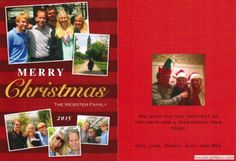 2015-12-25 Merry Christmas from the Websters (Dan, Lisa, Danny, Alli and Ben). Happy holidays to everyone, and thank you for your ongoing support!