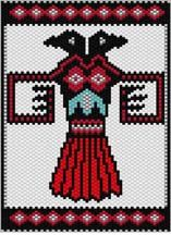 Thunderbird Peyote Pattern by Sigrid Wynne-Evans at Bead-Patterns.com