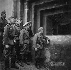Germans inspect the Maginot Line fortifications.
