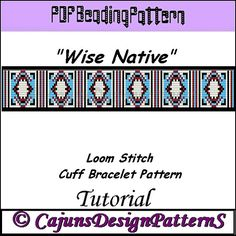 WISE NATIVE Native Inspired Loom Beaded by CajunsDesignPatternS, $4.50