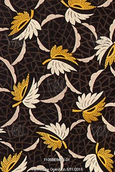 Leaf textile design, from the Mulhouse Pattern Book. France, 19th century