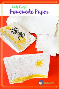 Homemade Paper is a fun craft for kids of all ages. Turn that scratch paper into new paper! Great for Earth Day to teach recycling. Art Therapy Activities, Art Activities For Kids, Easy Crafts For Kids, Recycling For Kids, Earth Day Crafts, Homemade Crafts, Paper Crafts, Creative, Posts