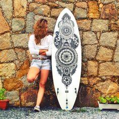 Surfboard art - Girls on boards