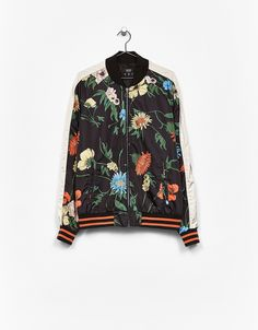 Floral print bomber jacket. Discover this and many more items in Bershka with new products every week