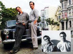 Josh Lucas & Jean-Marc Barr (Jack Kerouac & Neal Cassady). BIG SUR film