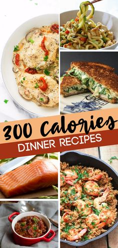 Low calorie dinners for you and your family! These 300 calorie or less dinners are proof that delicious can come in light are the perfect low calorie meals that fill you up. Start making your own low calories meal plan with these easy awesome recipes! Healthy Low Calorie Dinner, Low Calorie Meal Plans, 400 Calorie Meals, No Calorie Foods, Low Calorie Recipes, Diet Recipes, Healthy Eating, Cooking Recipes, 300 Calorie Dinner