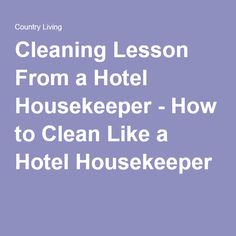 I took a cleaning lesson from a hotel housekeeper to learn her secret tricks of the trade. Hotel Housekeeping Tips, Housekeeping Schedule, Good Housekeeping, Cleaning Rota, Hotel Cleaning, Cleaning Hacks, Cleaning Schedules, Housekeeper Checklist, Clean Bed