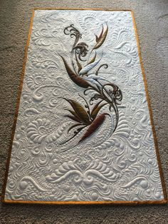 Alfred Shaheen challenge - Joy in Illinois - Quilts - Gallery - MQR Forums Machine Quilting Patterns, Quilt Patterns Free, Longarm Quilting, Free Motion Quilting, Quilting Projects, Quilting Ideas, Quilt Stitching, Applique Quilts, Blackwork