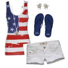 Perfect outfit for 4th of July party!
