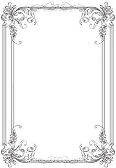 Free black Clip Art Borders and Frames weddings Custom Vintage Frame Four by kingoftheswingers Borders For Paper, Borders And Frames, Molduras Vintage, Wedding Borders, Photos Booth, Vintage Wedding Cards, Vintage Borders, Page Borders, Free Frames