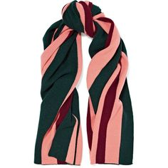 Acne Studios Ninos striped wool scarf (€260) ❤ liked on Polyvore featuring accessories, scarves, emerald, striped scarves, wool scarves, wool shawl, acne studios and antique shawl
