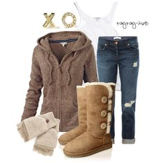 """Hugs, kisses, & Uggs"" by taytay-268 on Polyvore"