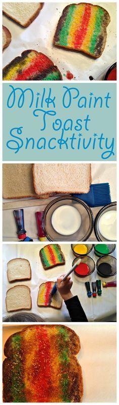 Super fun milk paint toast activity!