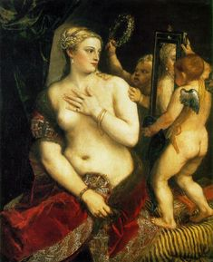 Titian, Venus at her Toilette, I saw this on in the Ca d'Oro in Venice this summer....what a nice surprise :)