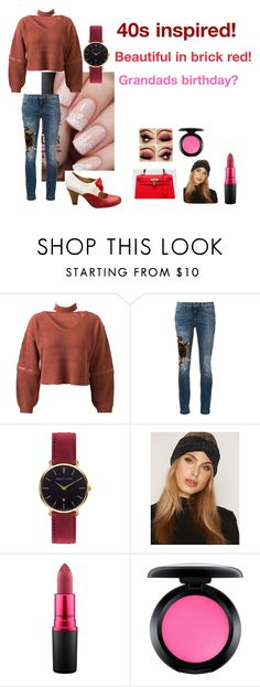 """For Michelle (sister) - Michelle's ideal wardrobe by me: 40s!"" by sarah-m-smith ❤ liked on Polyvore featuring WithChic, Dolce&Gabbana, Abbott Lyon, Pieces and MAC Cosmetics"