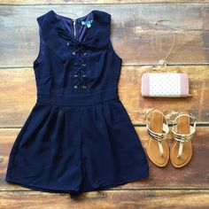 """Off The Coast"" Romper"